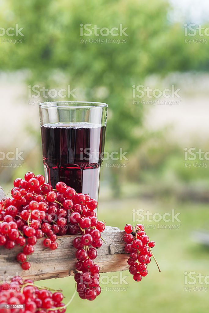 Red Currant Juice Johannisbeersaft royalty-free stock photo