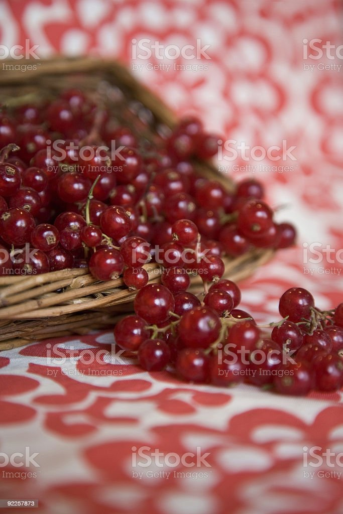 Red Currants and Basket royalty-free stock photo