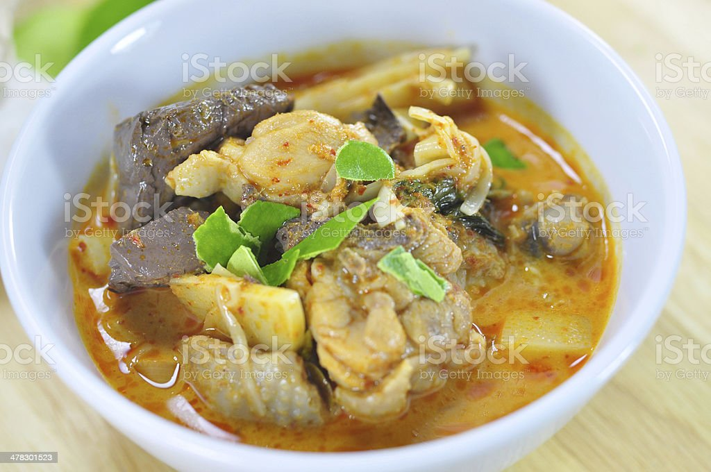 Red Curry Chicken royalty-free stock photo