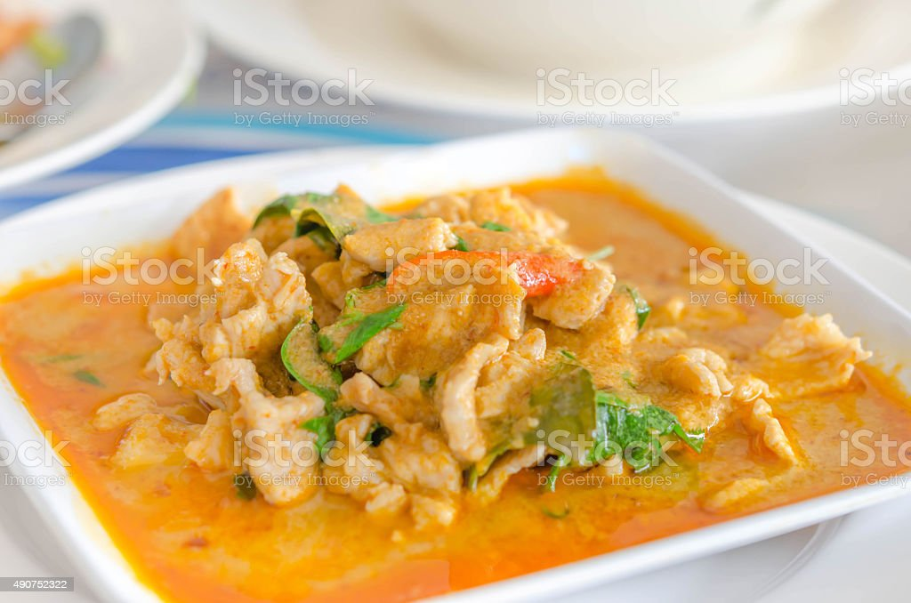 red curry stock photo