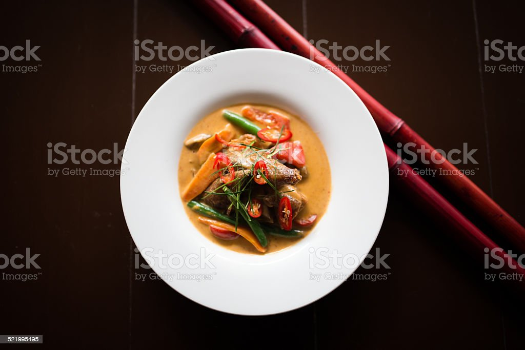 Red Curry roast Duck stock photo