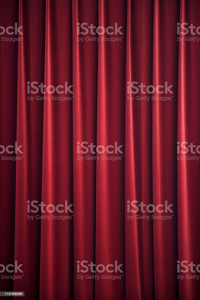red curtain drape royalty-free stock photo