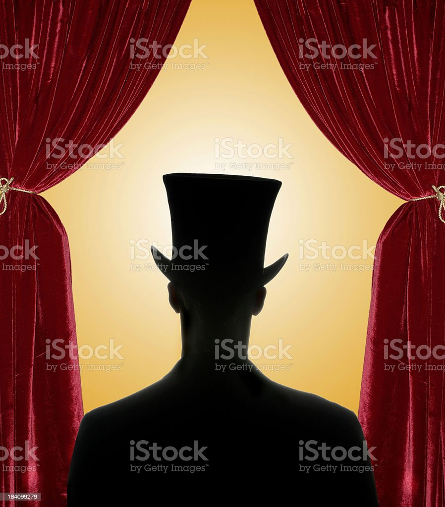 red curtain guy 1.0 royalty-free stock photo