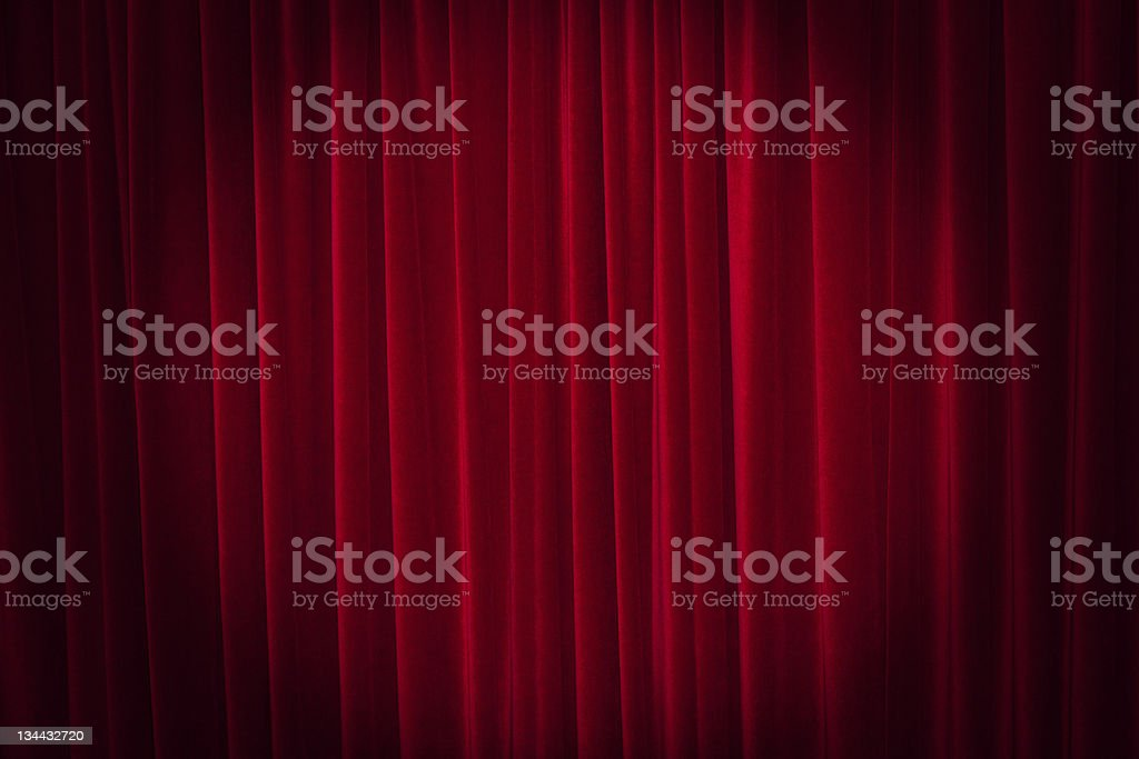 Red curtain royalty-free stock photo
