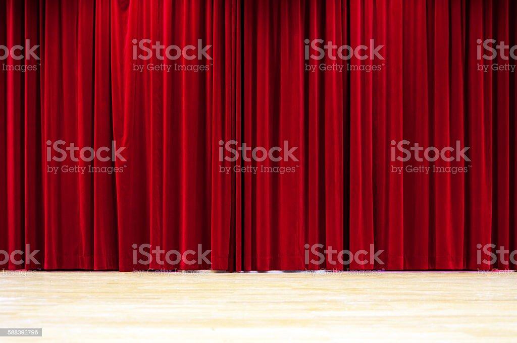 Red Curtain Stage royalty-free stock photo