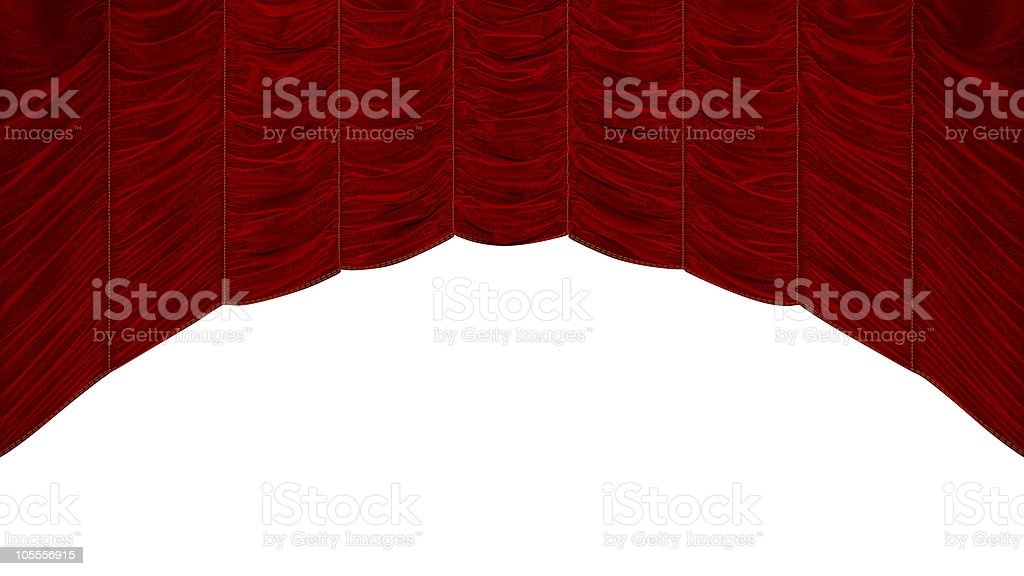 XXXL Red Curtain with beautiful pattern royalty-free stock photo