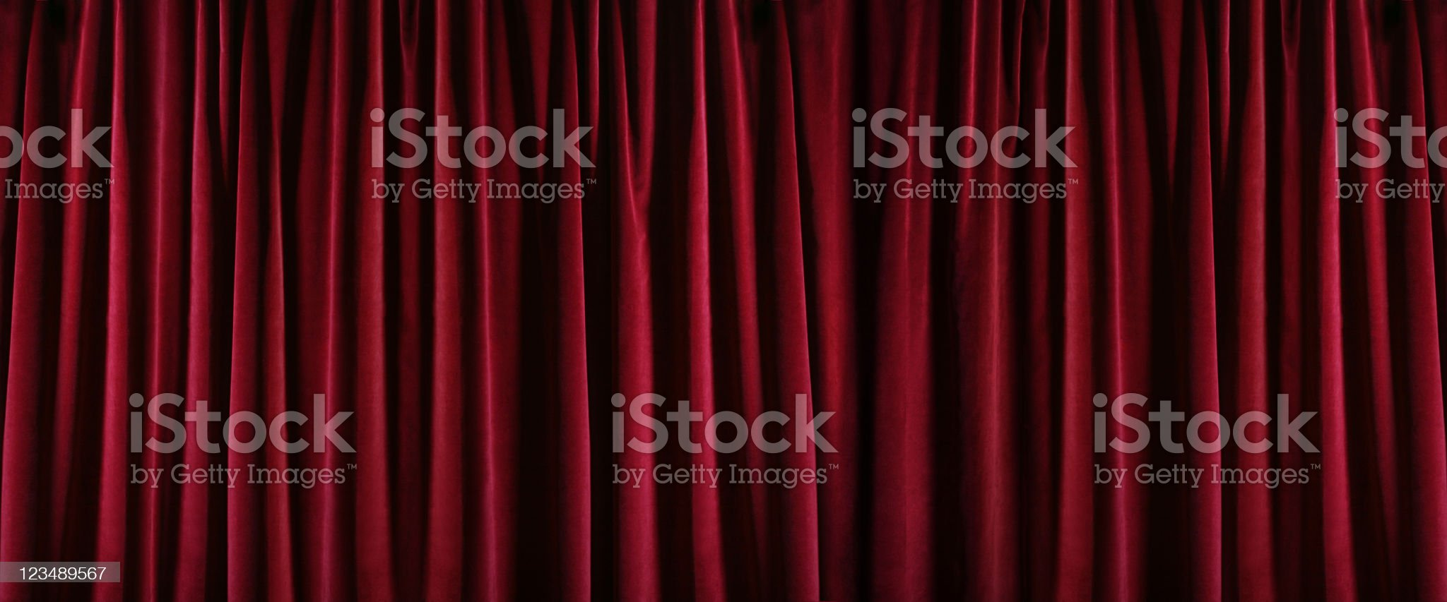 red curtain XXL royalty-free stock photo