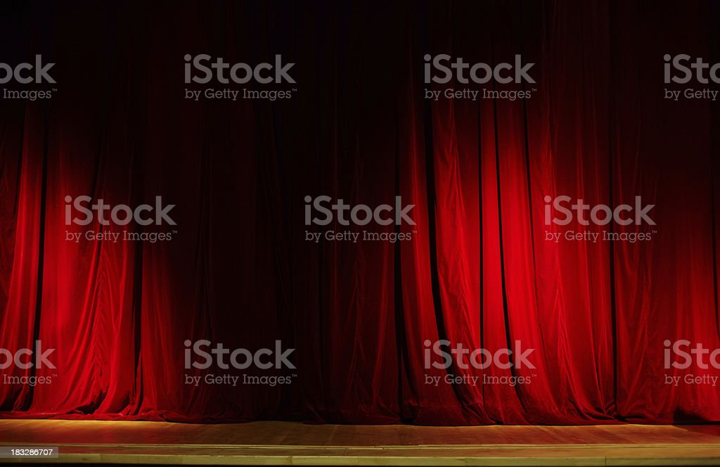 Red Curtain. XXL royalty-free stock photo