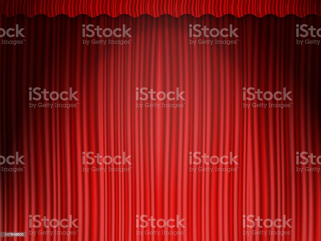 red curtains stock photo