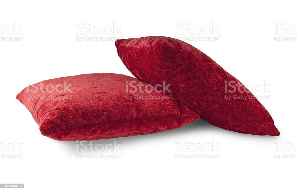 Red Cushion - Objects with Clipping Paths royalty-free stock photo