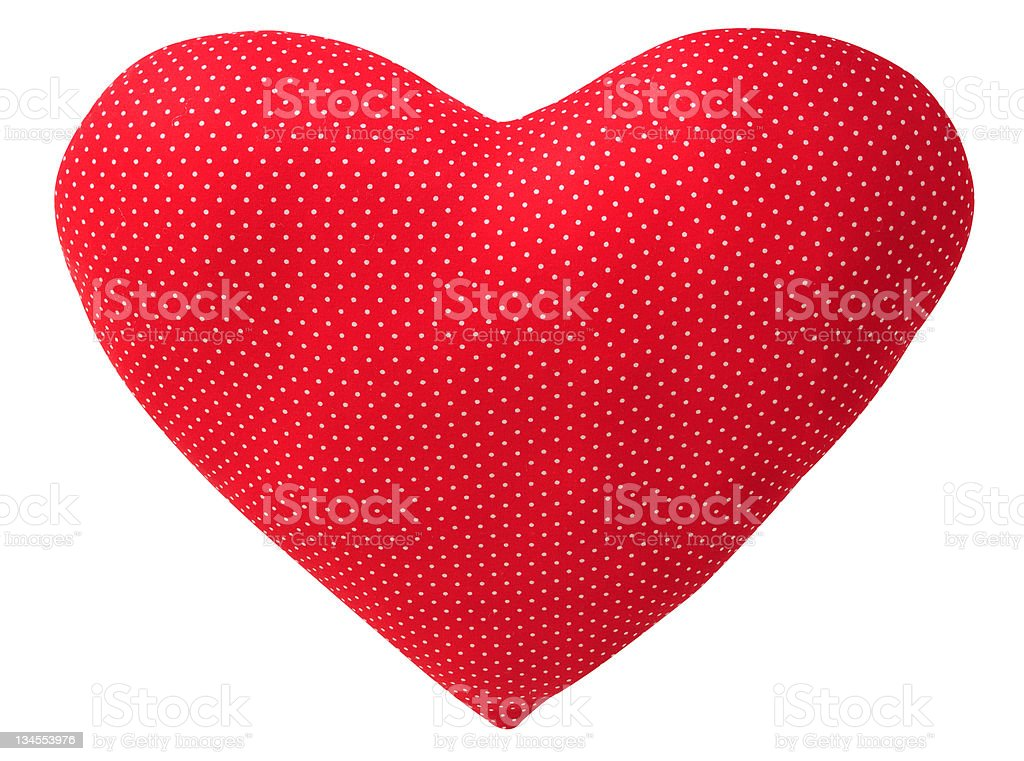 Red cushion. stock photo