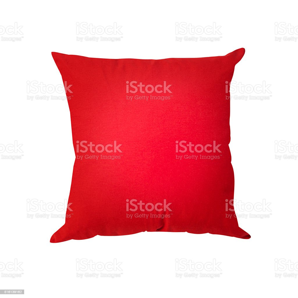 red cushions stock photo