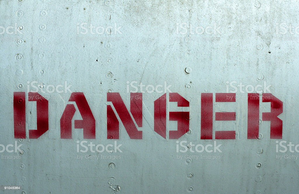 red danger stencil royalty-free stock photo