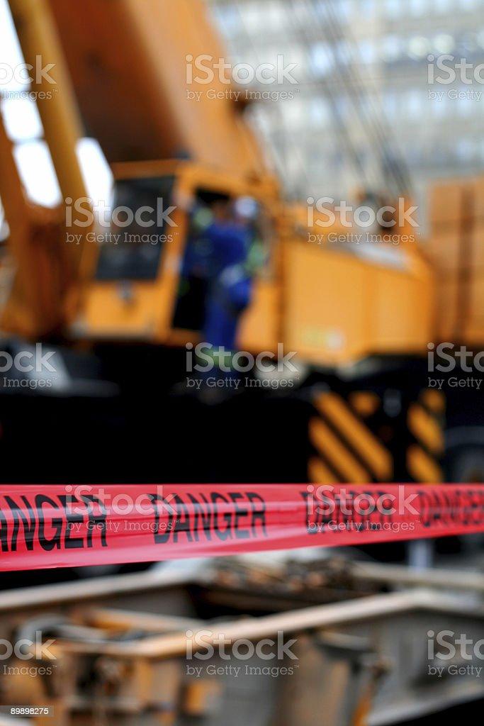 Red Danger Tape stock photo