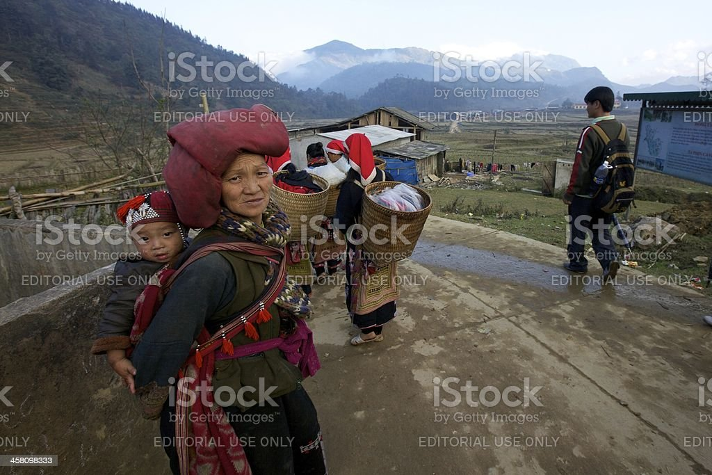 Red Dao Ethnic Minority People royalty-free stock photo