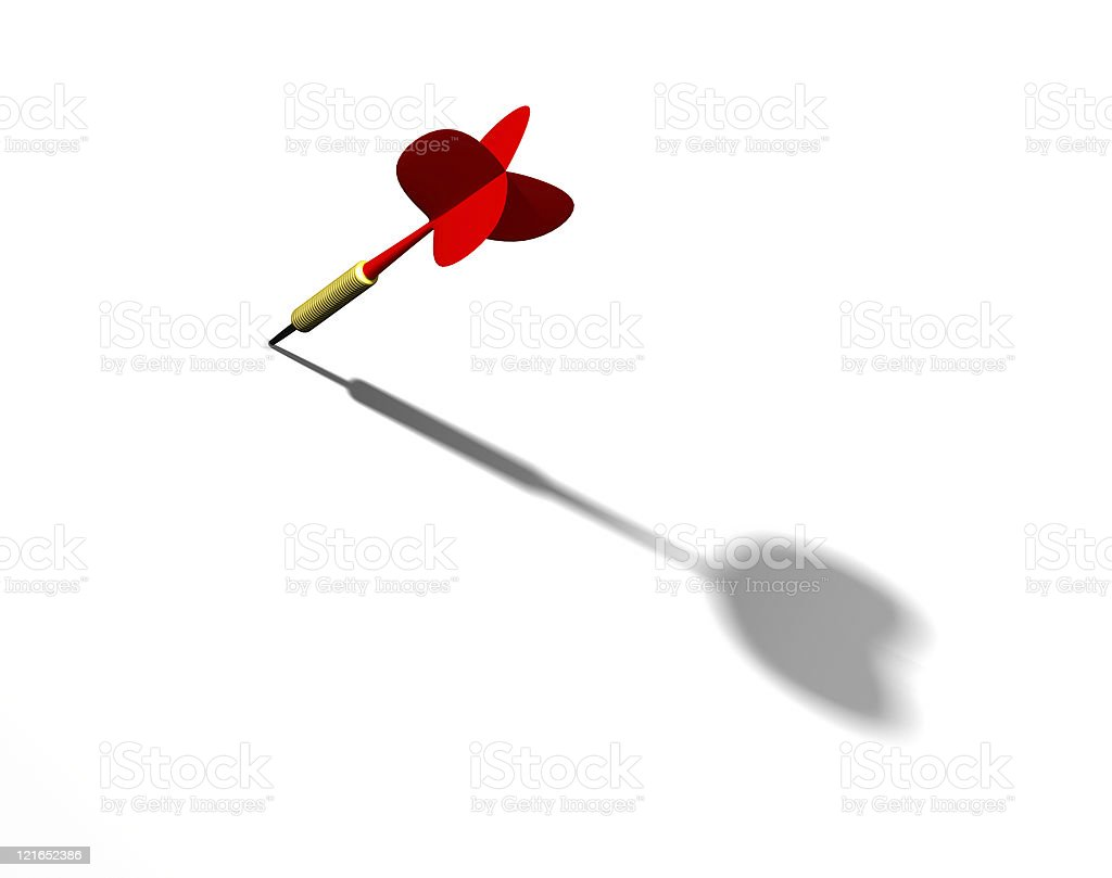 Red dart stock photo
