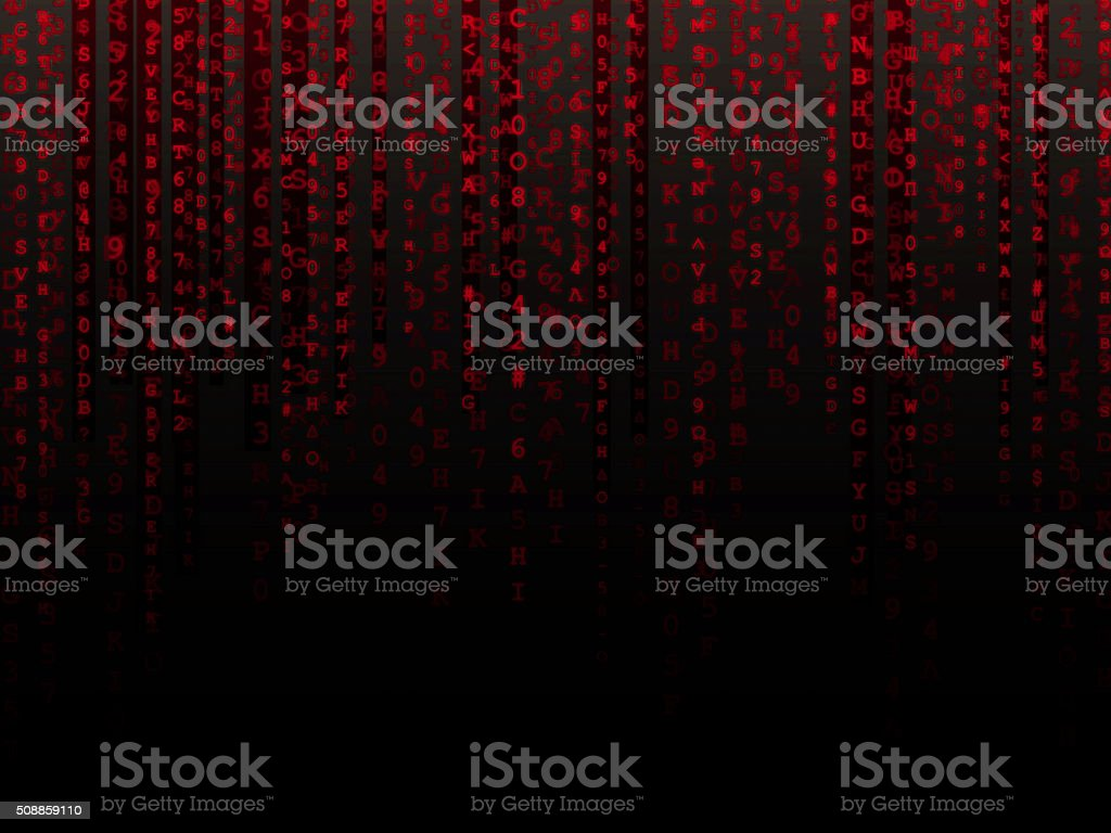 Red Data Background stock photo