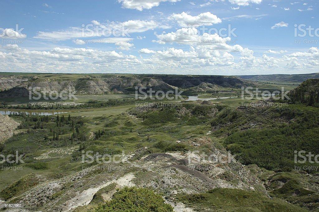 Red Deer Valley stock photo