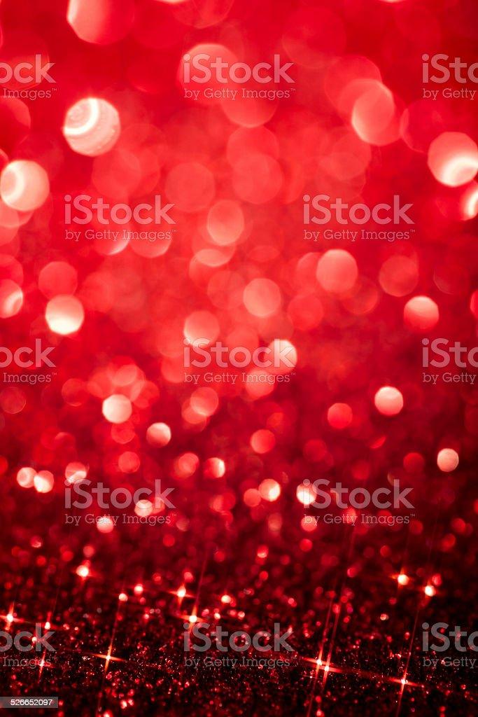 Red Defocused Glitter Background - Christmas Bokeh stock photo
