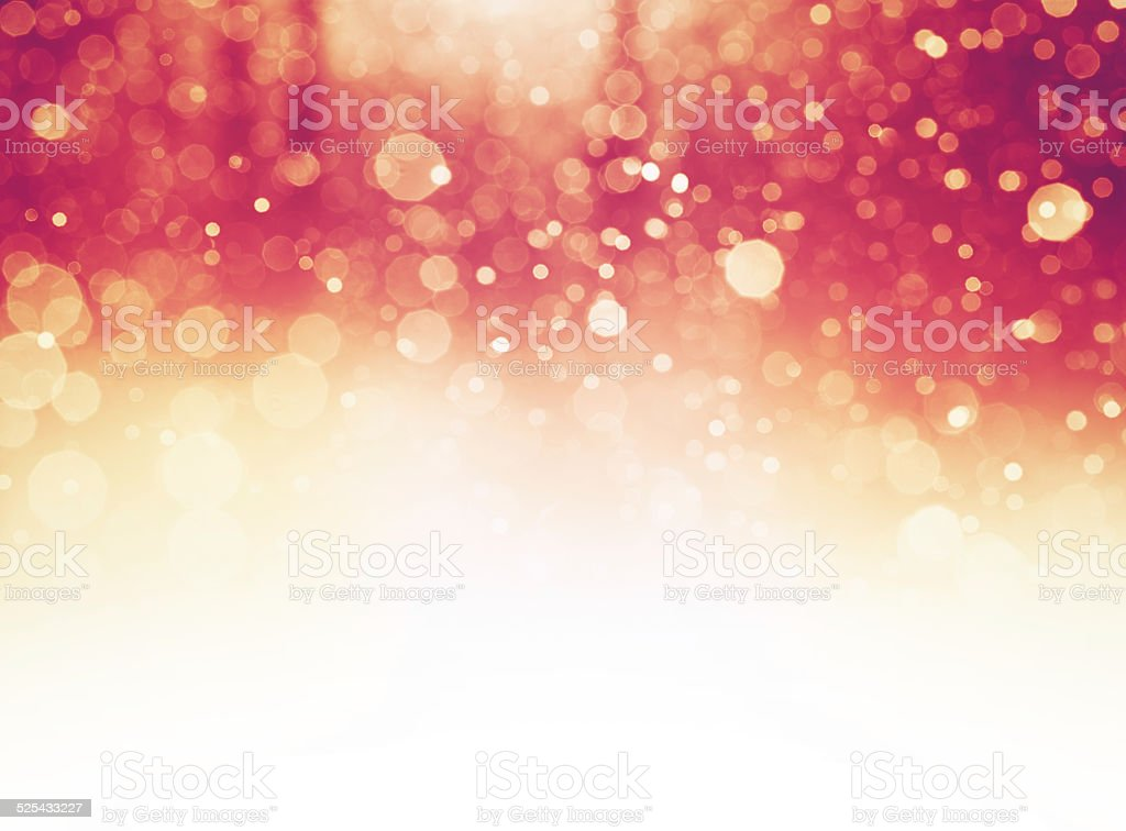 Red Defocused Light Background For Christmas stock photo