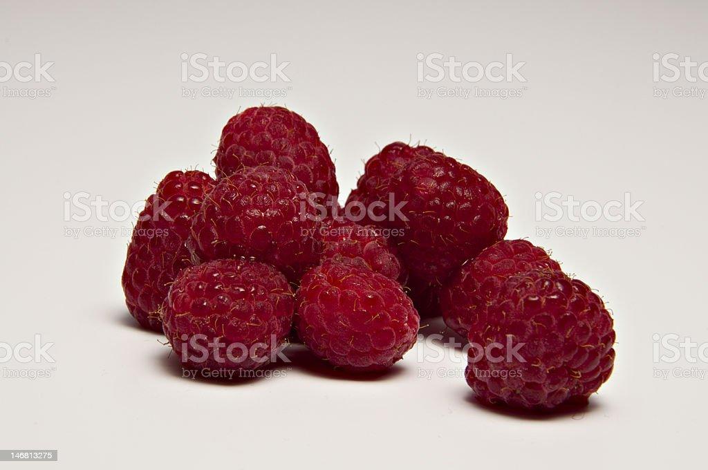 Köstliche Raspberrys rot Lizenzfreies stock-foto