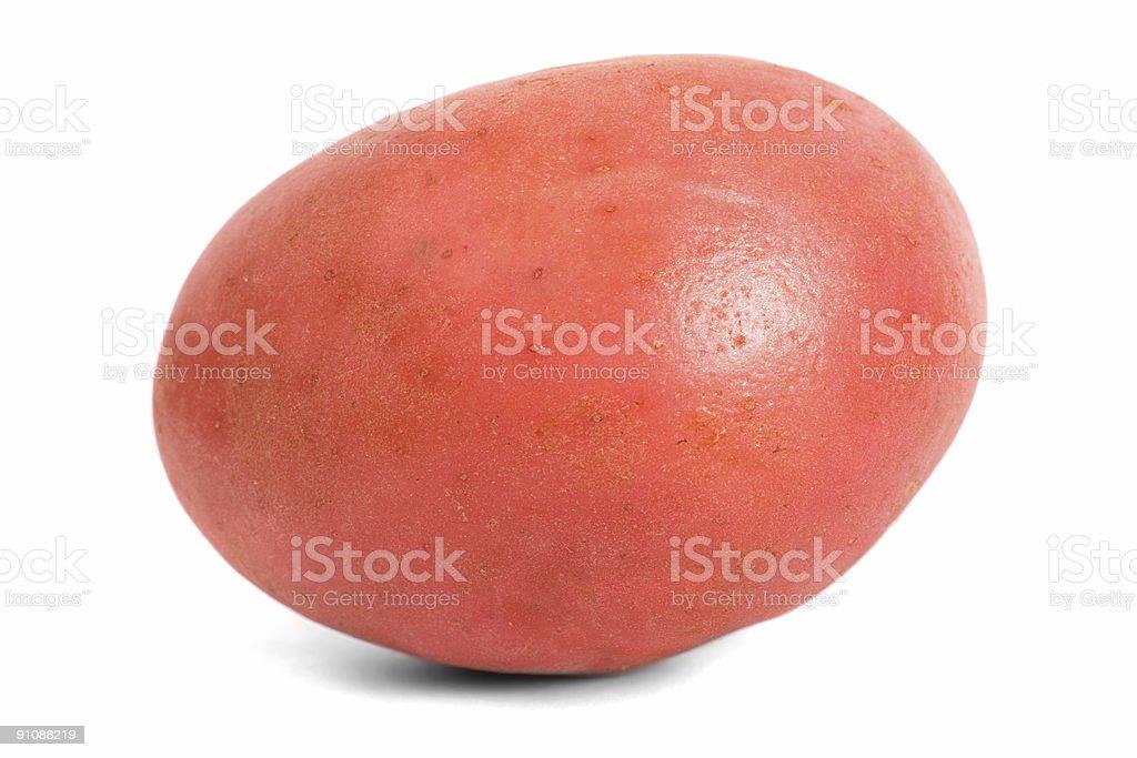 Red Desiree Potato oblique royalty-free stock photo