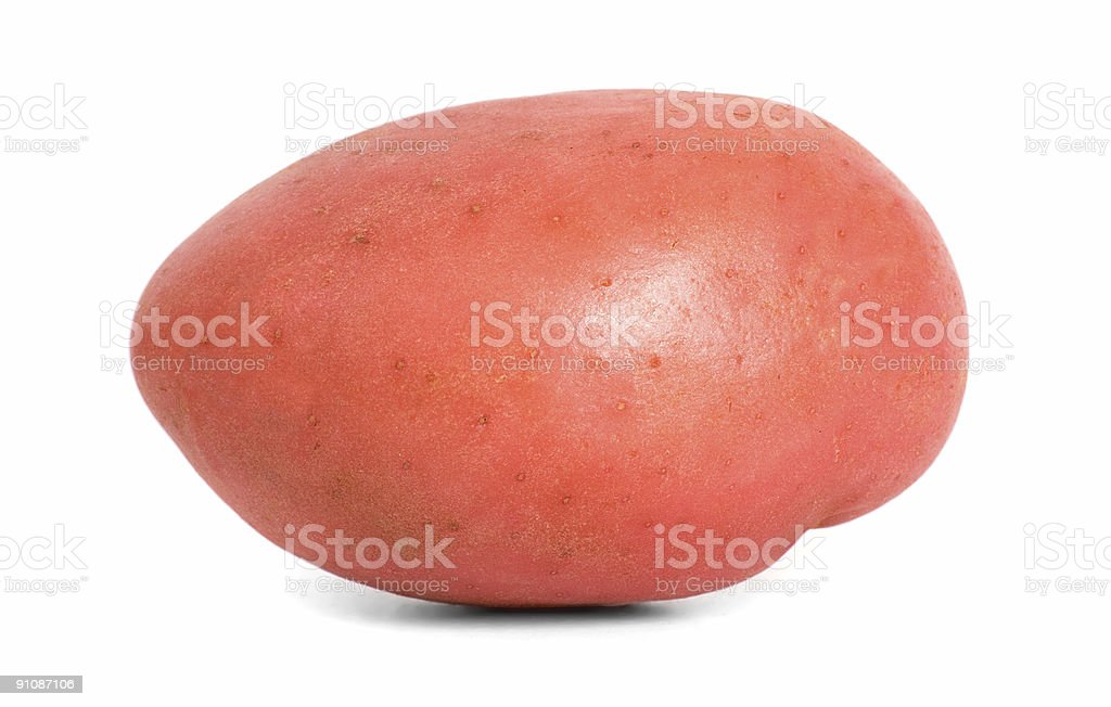 Red Desiree Potato side royalty-free stock photo