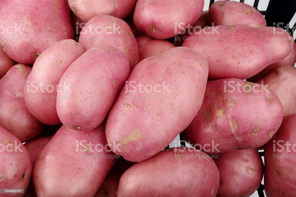 Red Desiree Potatoes stock photo