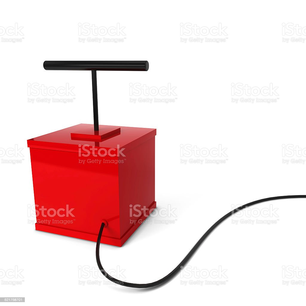 Red detonator stock photo
