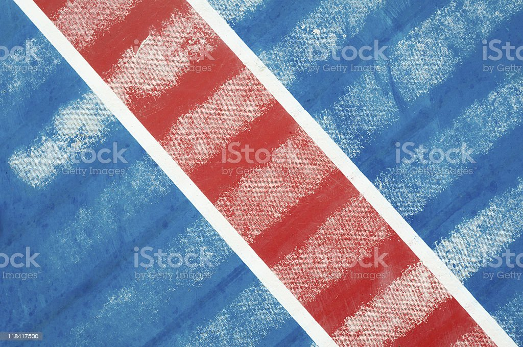 Red diagonal on blue stock photo