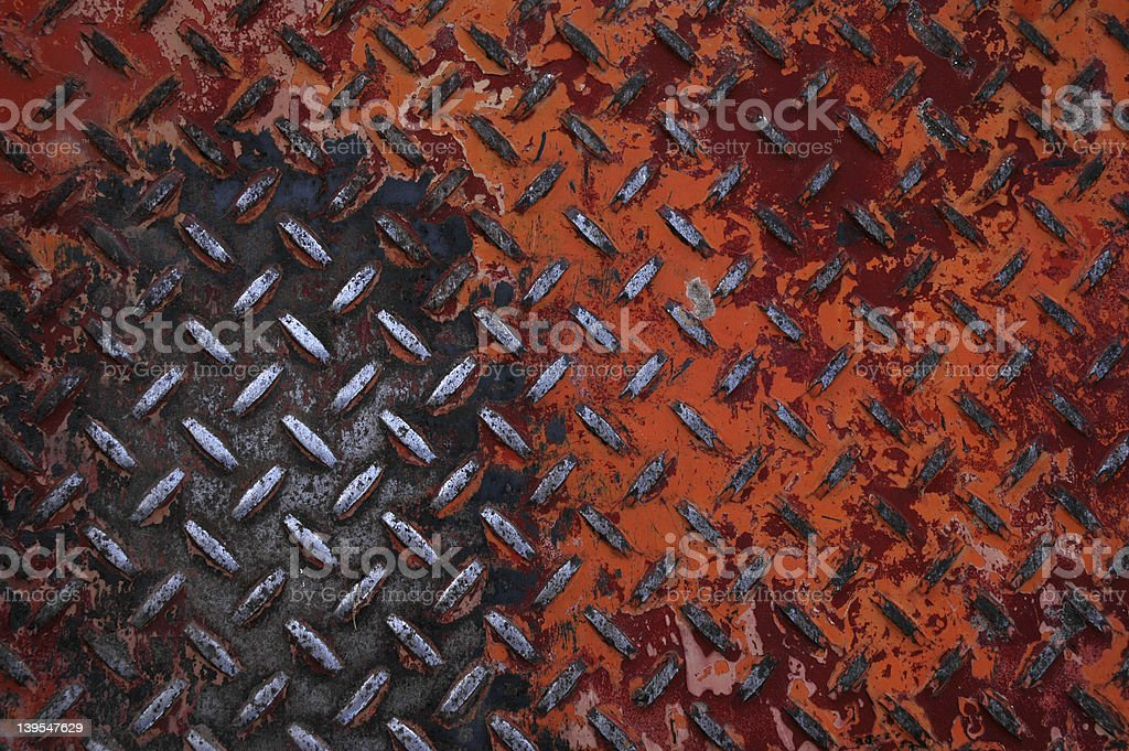 Red Diamond Plate royalty-free stock photo