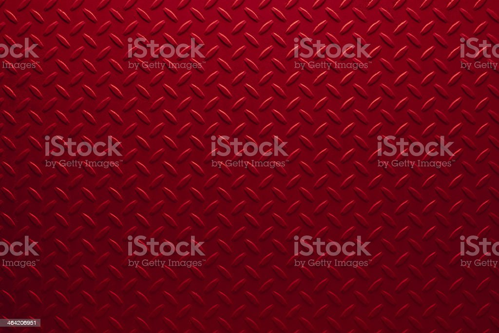 Red Diamondplate stock photo