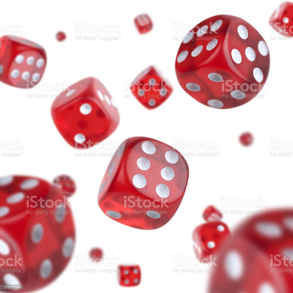 Red Dice Explosion stock photo