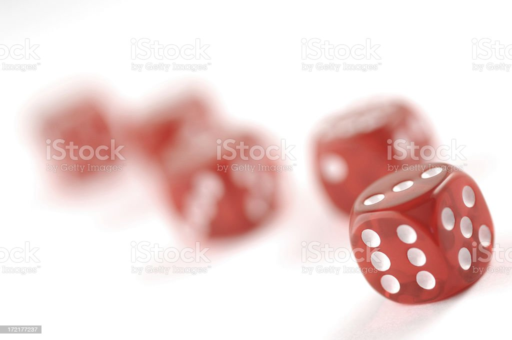 red dice on white series royalty-free stock photo