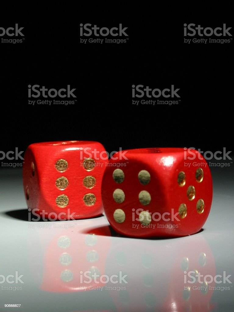 2 red dice royalty-free stock photo