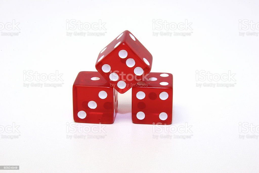 Red Dice (3) royalty-free stock photo