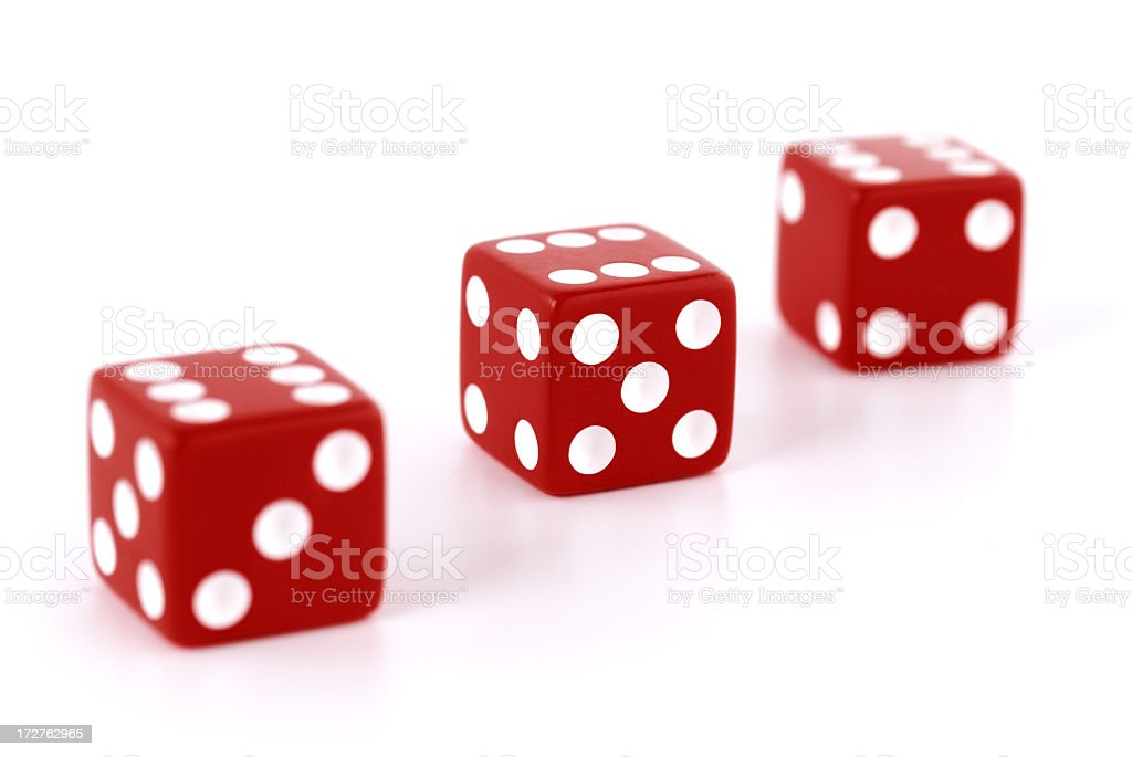 Red dices royalty-free stock photo