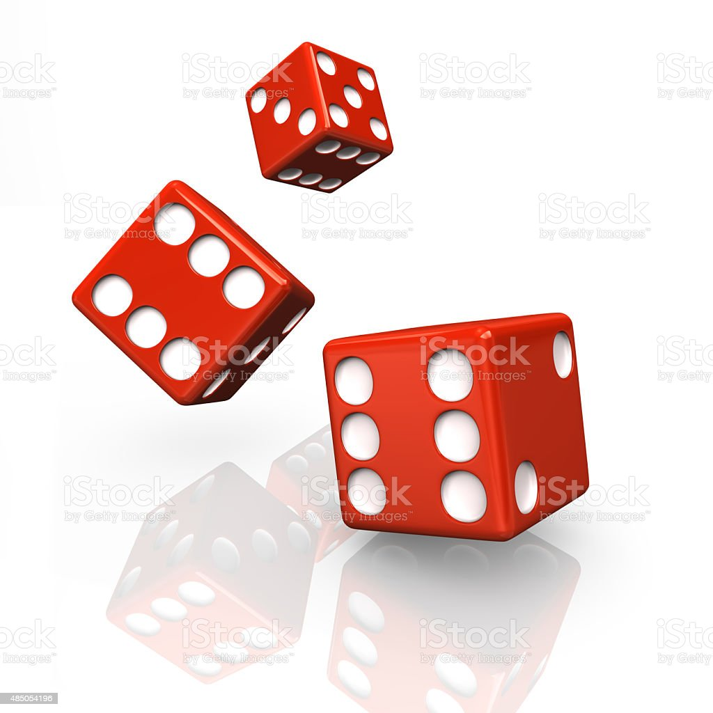 Red Dices stock photo