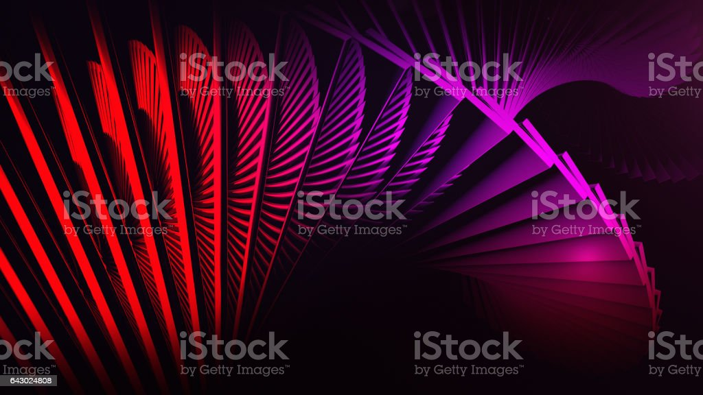 Red digital background with 3d spiral structures stock photo