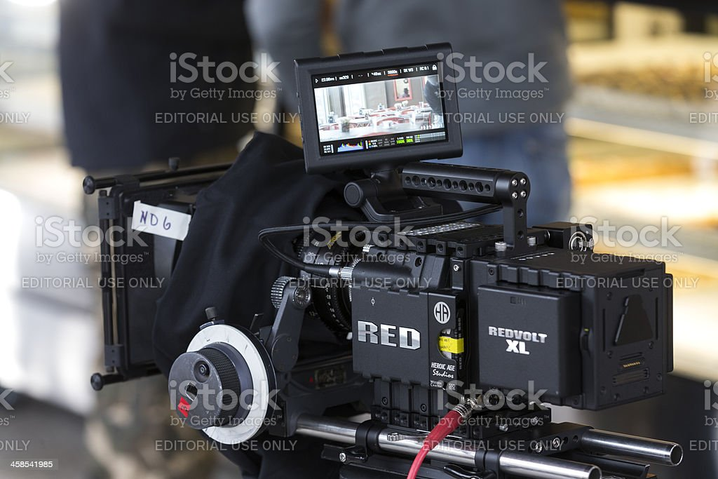 Red digital cinema camera royalty-free stock photo