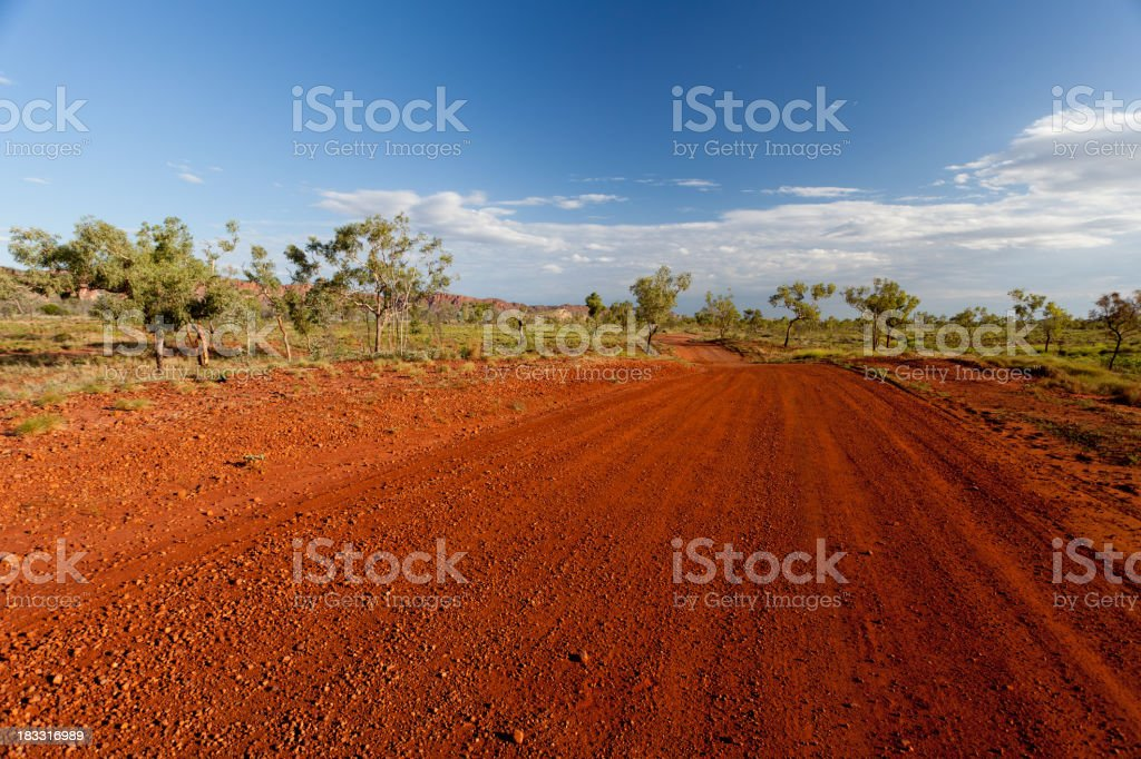 Red dirt road royalty-free stock photo