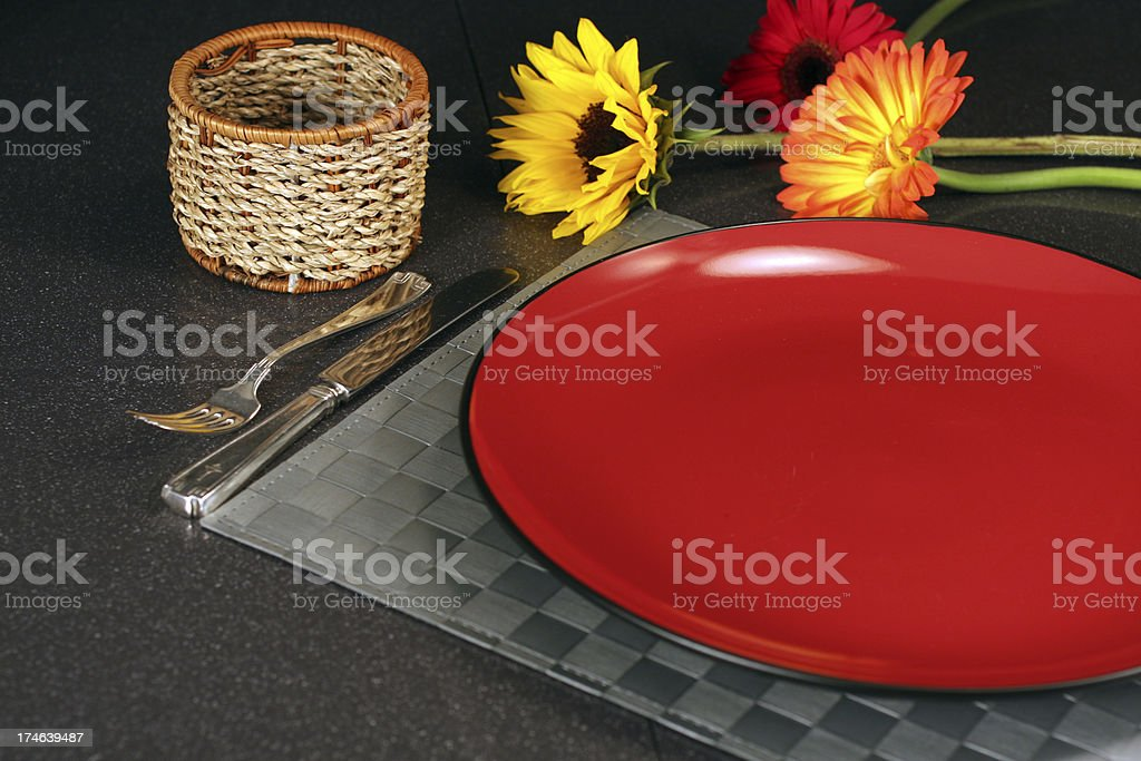 Red Dish Empty Scene royalty-free stock photo