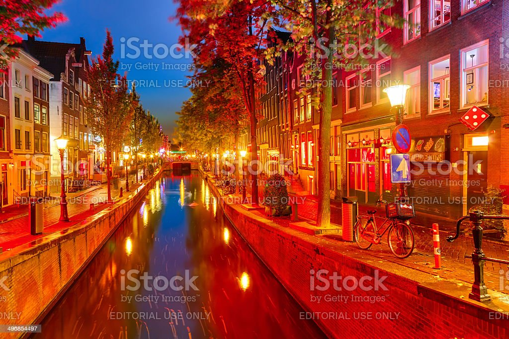 Red district in Amsterdam stock photo