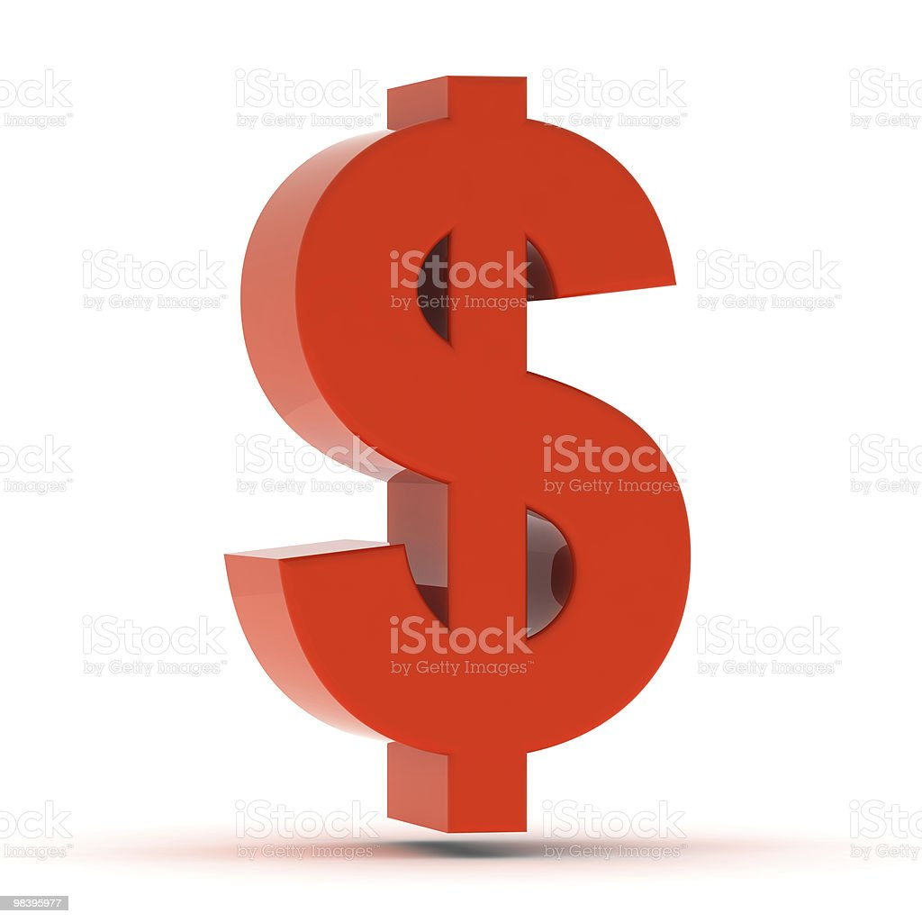 Red Dollar Sign royalty-free stock photo