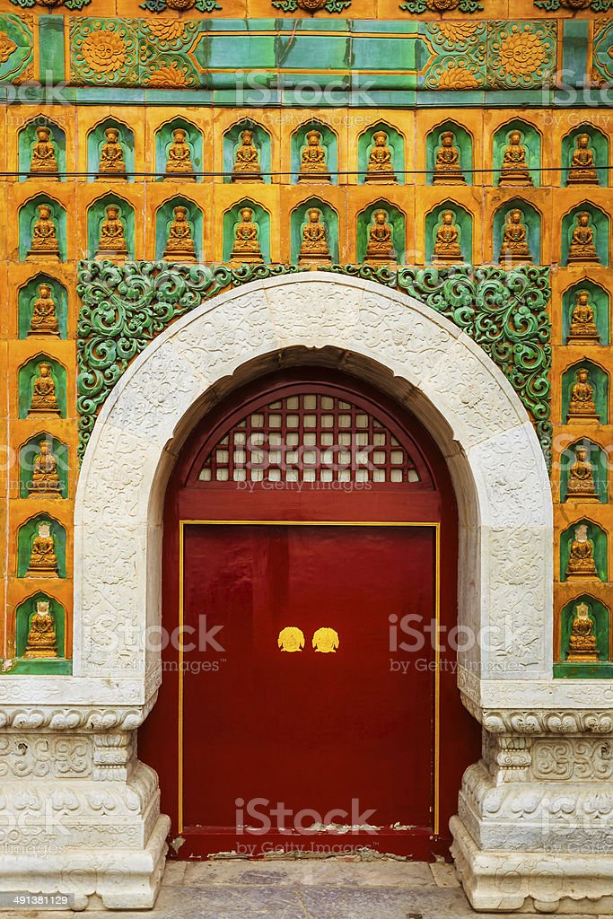 Red Door at Summer Palace in Beijing royalty-free stock photo