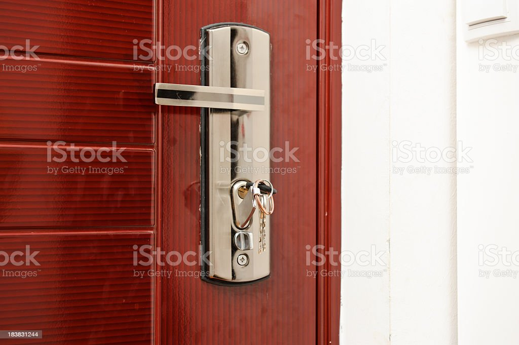 Red door detail royalty-free stock photo