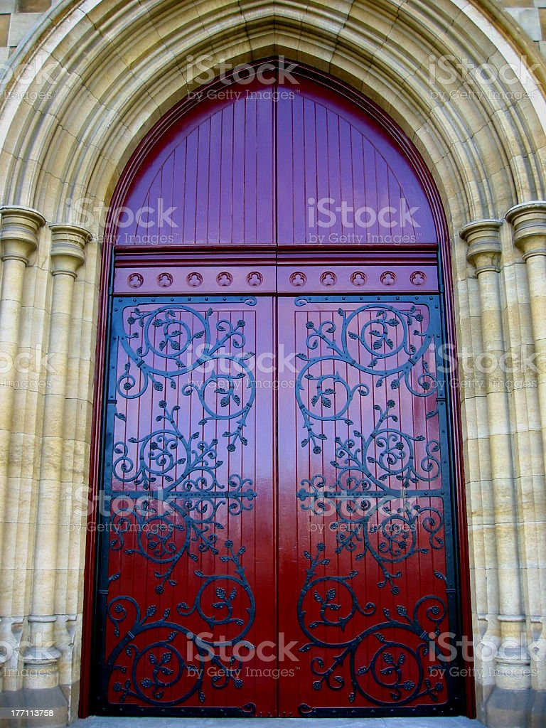 Red Door Of Light royalty-free stock photo