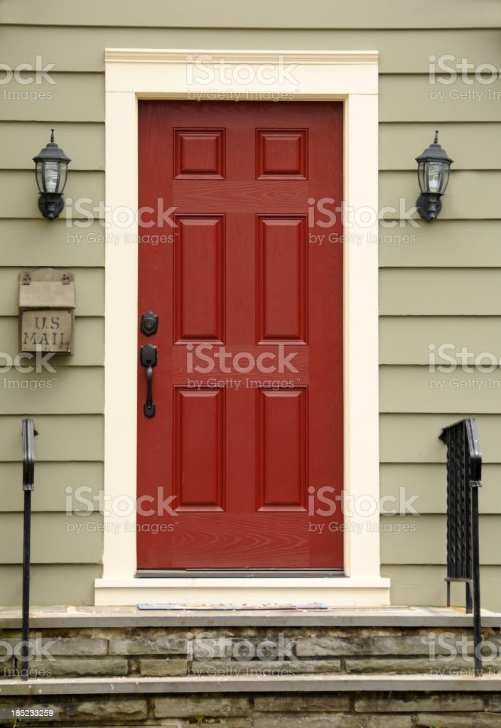 Red Door stock photo