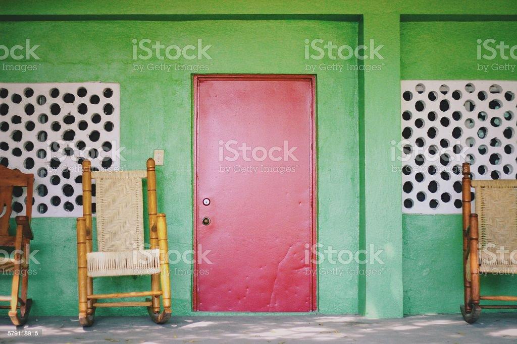 Red Door stock photo
