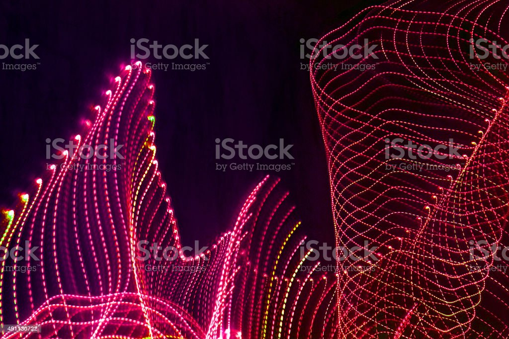 red dotted abstract light lines stock photo